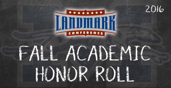 27 Greyhounds Named to Landmark Conference Fall Academic Honor Roll