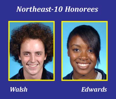 Walsh, Edwards Honored by Northeast-10