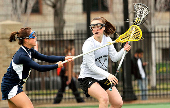 Strong First Half Lifts UNE Past Women's Lacrosse