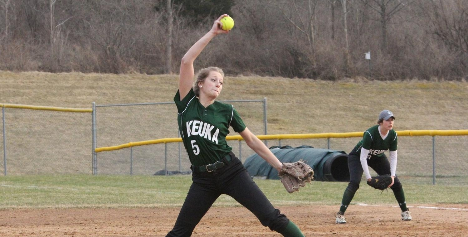 Freshman pitcher Whitney Tyler earned the win in both games for Keuka College on Friday