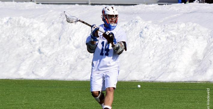 Dahms ties points record, Men's Lacrosse cruises past Hanover