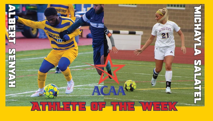 Michayla Salatel and Albert Senyah Named ACAA Athletes of the Week