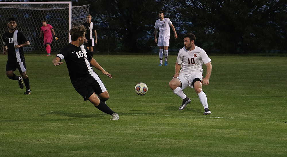 Men's soccer hangs tight with Webster in shutout loss