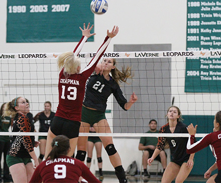 Volleyball Holds Off Chapman in Four Sets