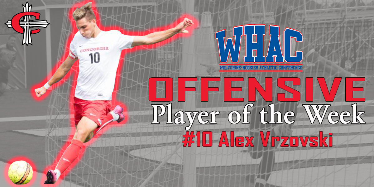 Vrzovski named WHAC Offensive Player of the Week