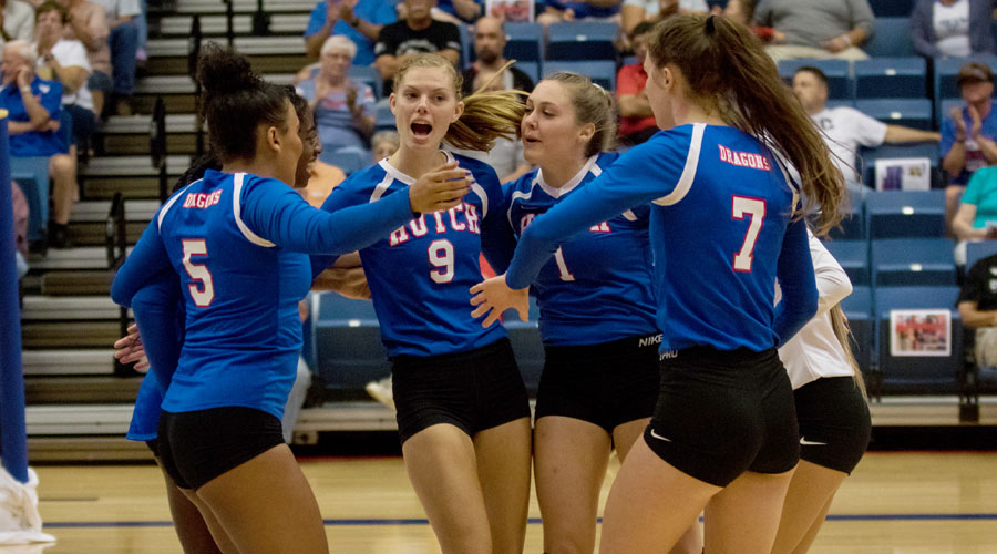 Blue Dragon Volleyball travels to Cloud County at 6:30 p.m. on Friday in Concordia. (Allie Schweizer/Blue Dragon Sports Information)