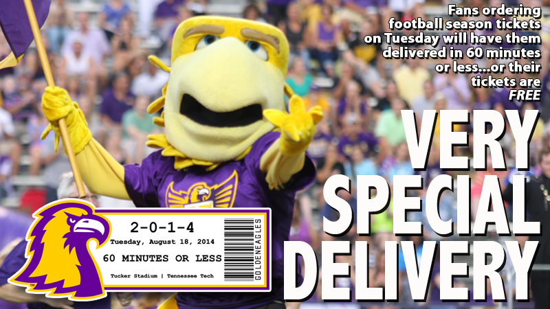 Tech to deliver season tickets Tuesday in 60 minutes ....or they are free