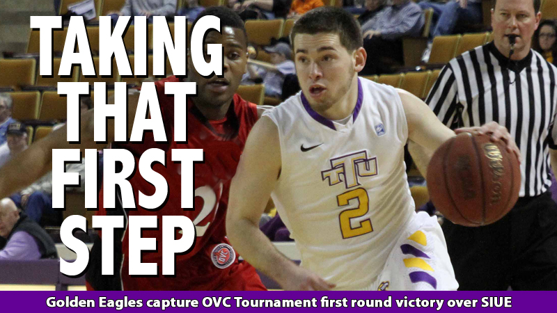 Balance and ball-handling lift Golden Eagles to first round OVC Tournament success