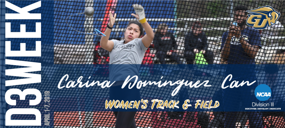 D3 Week Graphic - Carina Dominguez Can (Women's Track and Field)