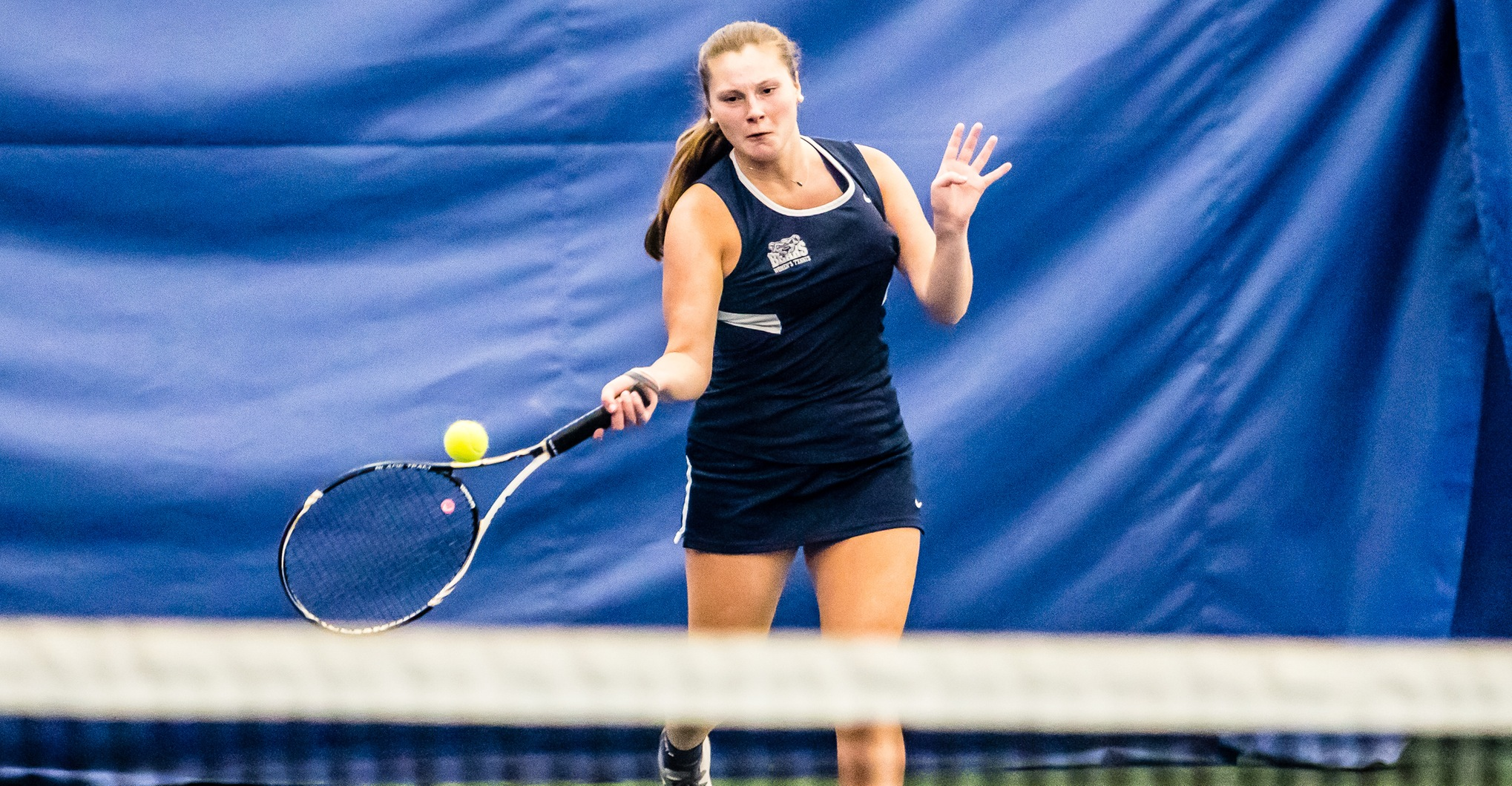 Women's Tennis Upends New Rochelle to Notch First Win for Coach Gil