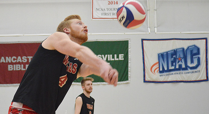 Five-Set Victory For Wells Men's Volleyball At Medaille