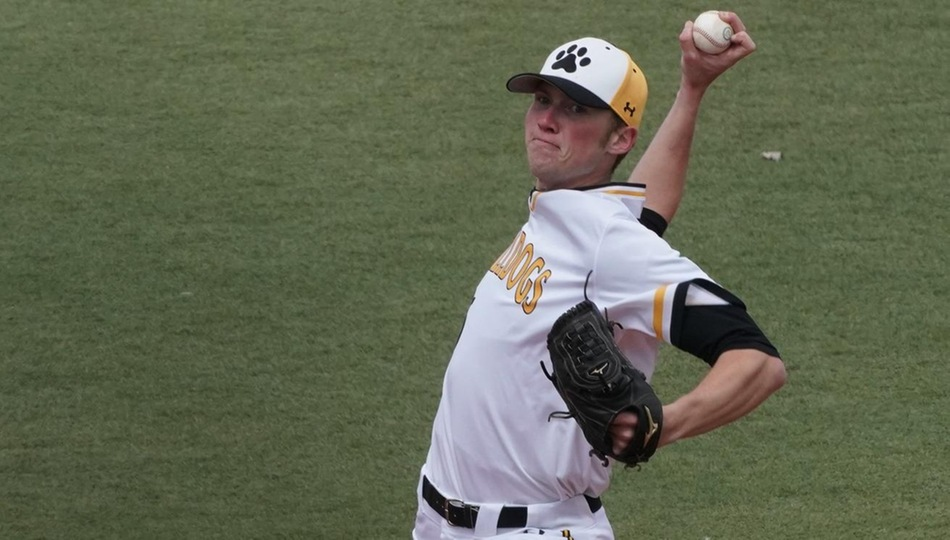 Senior Tommy Parsons is the Adrian single-season record holder with 102 strikeouts. (Action photo by Mike Dickie)