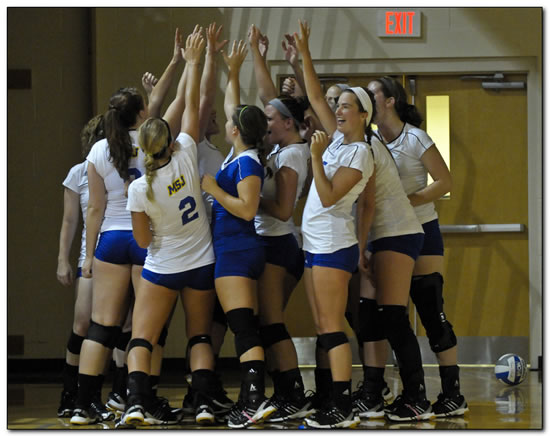 Mount women's volleyball team wins at Anderson University, 3-1