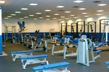 Bentley's varsity weight room