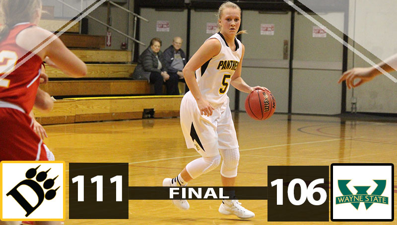 Women's Basketball Holds Off Wayne 111-106 In Double OT Marathon