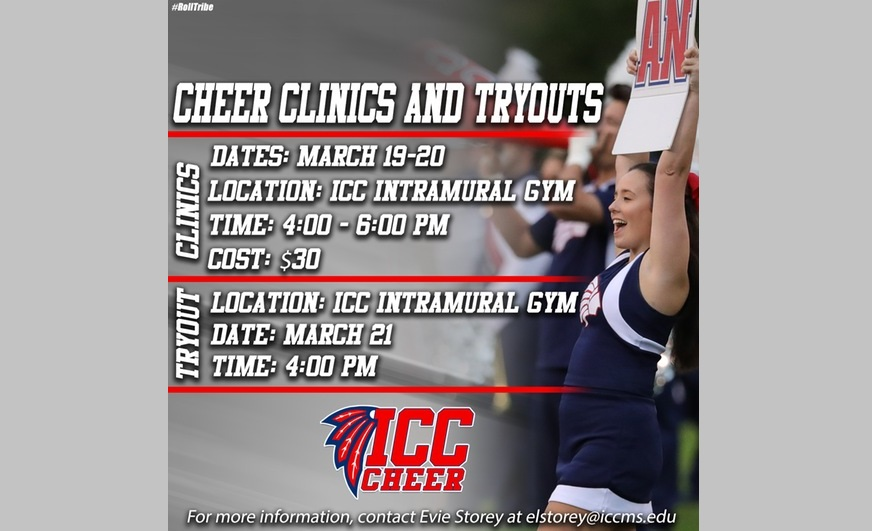 ICC schedules 2019-20 cheerleaders and mascot tryouts