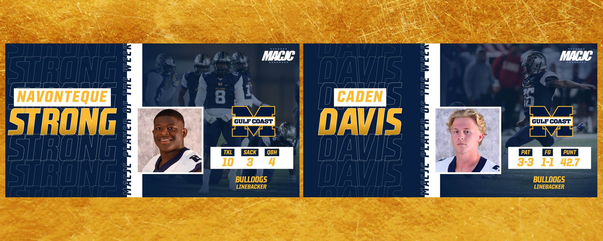 Strong, Davis win MACJC honors