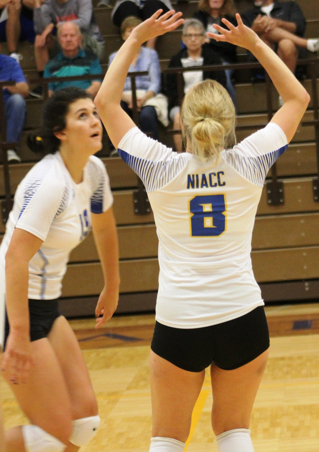 NIACC's Ashley Groe sets during a match last fall.