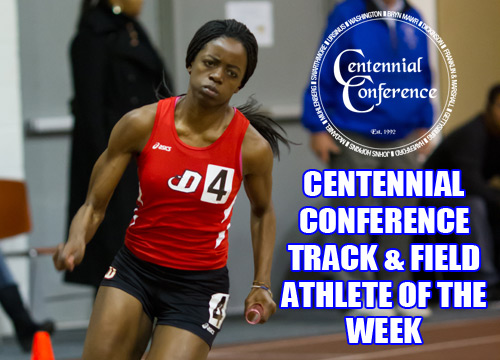 Senior Vivian Butali was named the Centennial Conference Field Athlete of the Week for her performance at the DuCharme Invitational on Saturday<BR>