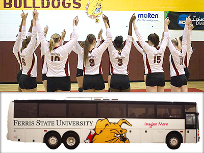 Fan Bus To Hillsdale For NCAA Volleyball