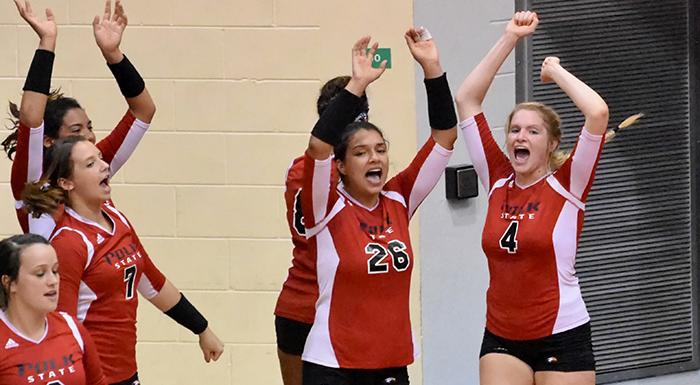 The Eagles beat Daytona State for their fourth win in the last five matches. (Photo by Tom Hagerty, Polk State.)