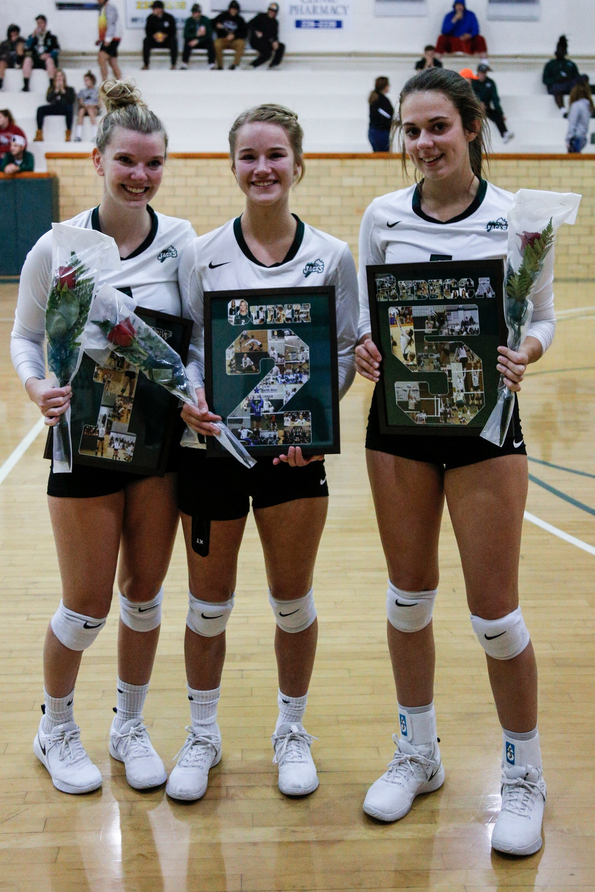 Ladyjack Volleyball drops a 3-0 match to Lake Region on Sophomore night.