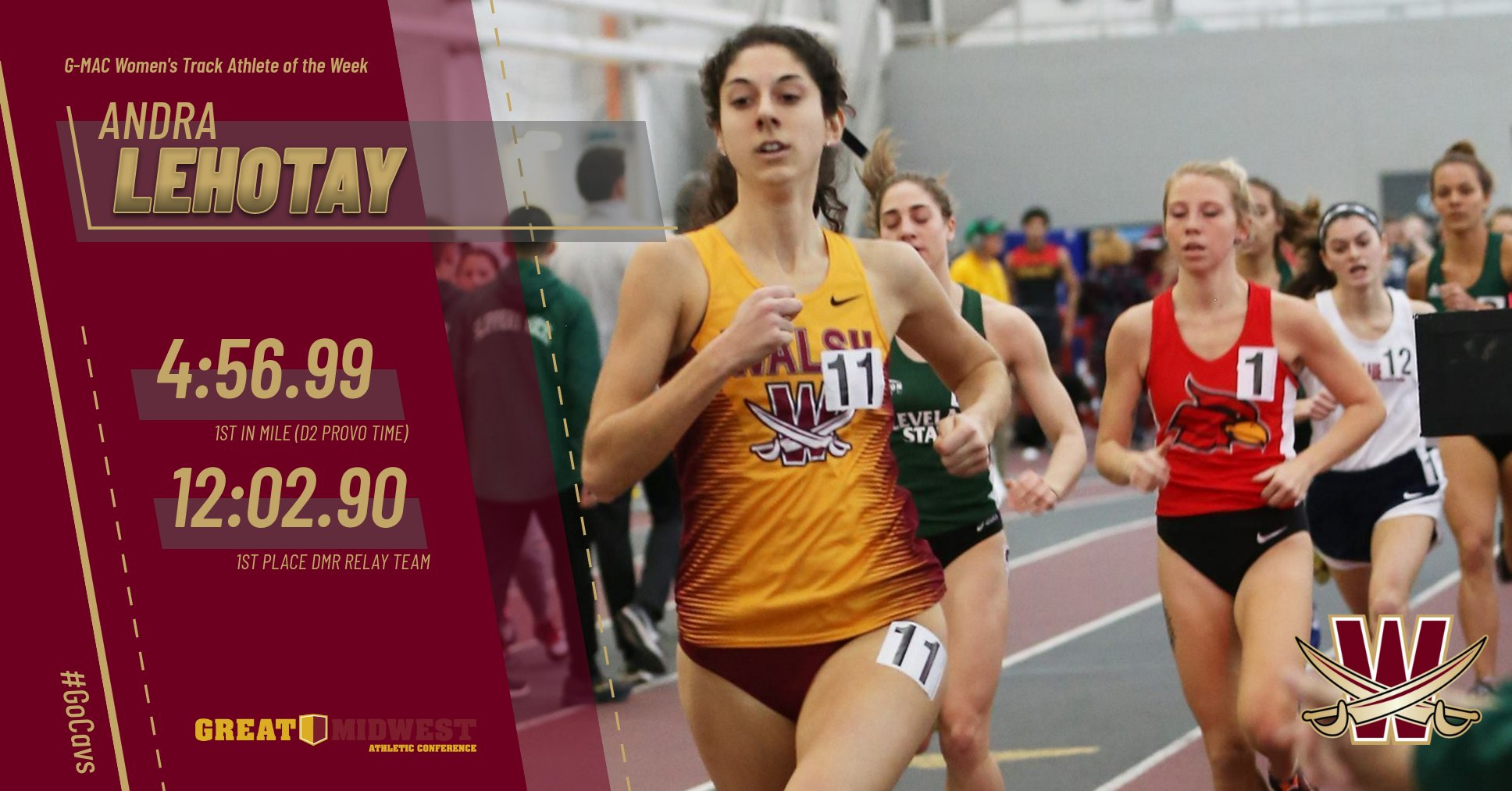 Andra Lehotay Named G-MAC Track Athlete of the Week