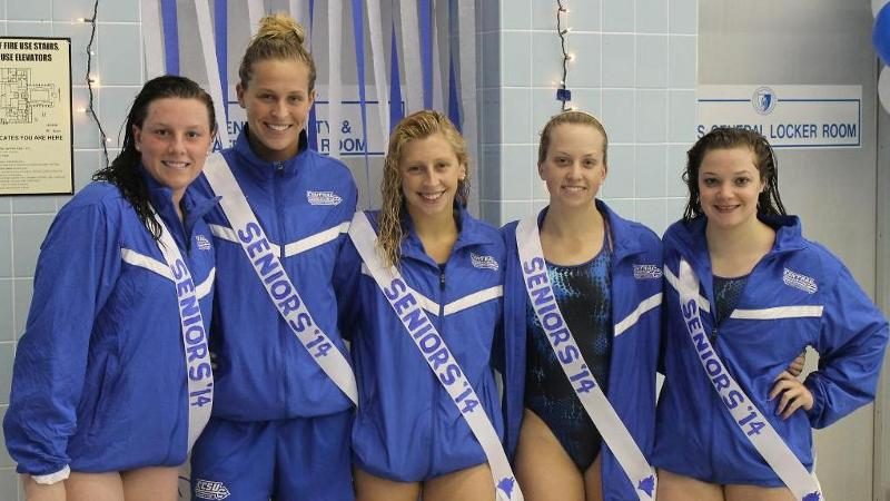 Swim & Dive Wins Tri-Meet on Senior Day