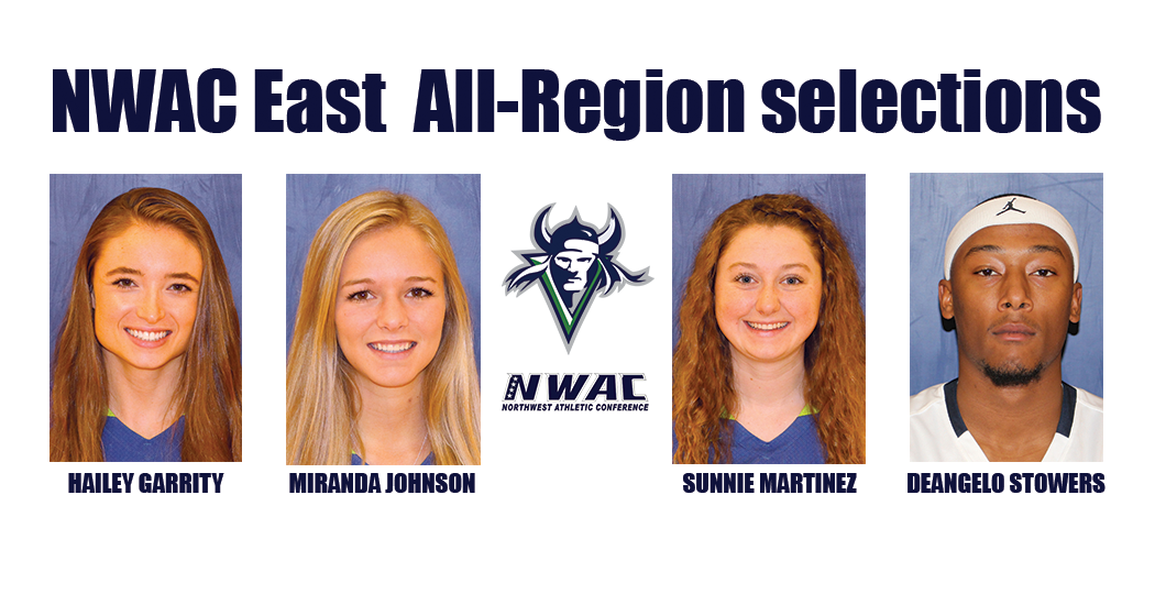 Four Vikings were selected to the Northwest Athletic Conference's Eastern All-Region Team from Big Bend. They included Hailey Garrity, Miranda Johnson, Sunnie Martinez, and DeAngelo Stowers.