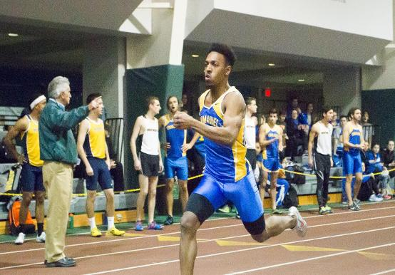 SAINTS INDOOR TRACK COMPETES AT BENYON INVITATIONAL