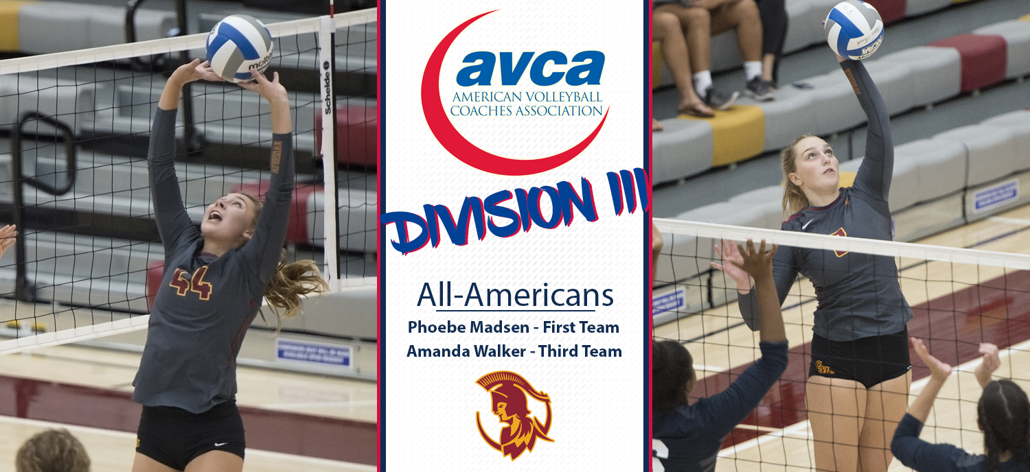 Phoebe Madsen Earns Spot on AVCA All-America First-Team; Amanda Walker on Third Team