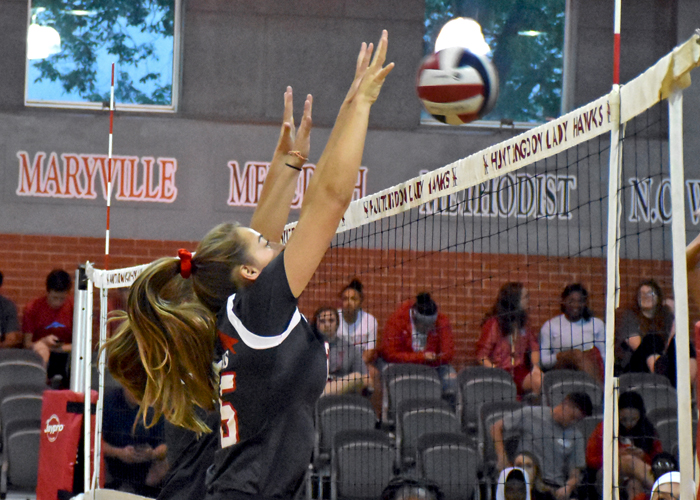 Hawks close Rhodes Invitational with five-set victory