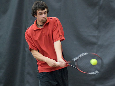 Ferris State's Steven Roberts posted a win at number three singles versus Toledo