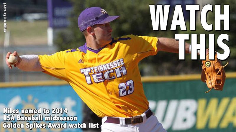 Miles named to USA Baseball midseason Golden Spikes Award watch list