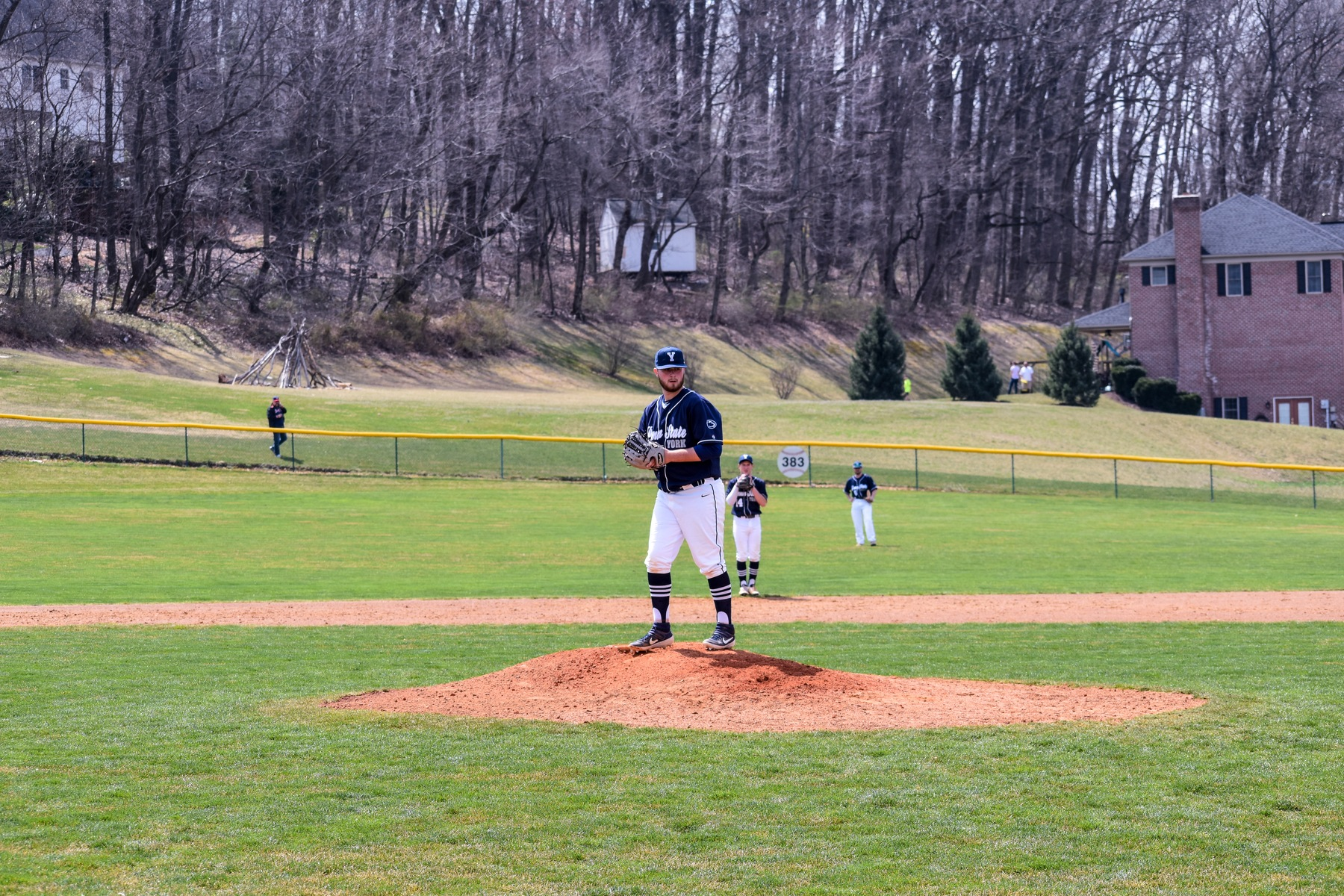 Brendon Delridge pitched a complete game for Penn State York in the 13-3 victory.