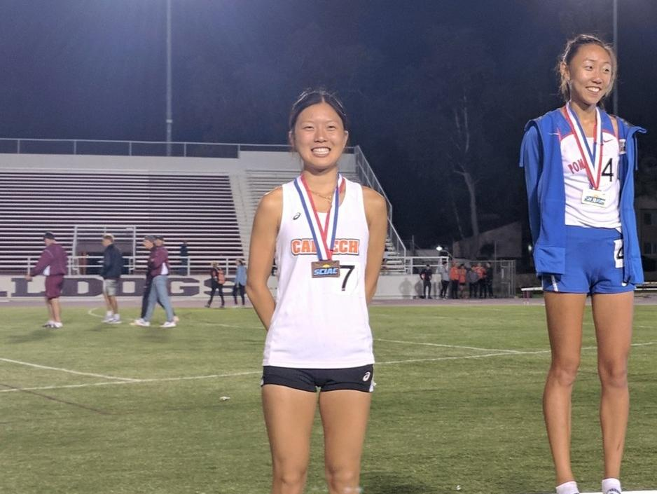 Hu Makes Podium in SCIAC Track Champs Debut