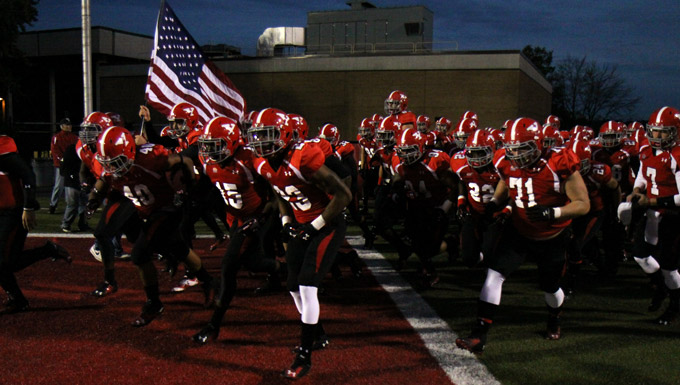 YSU Football takes the field.