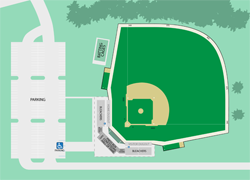 Baseball seating diagram