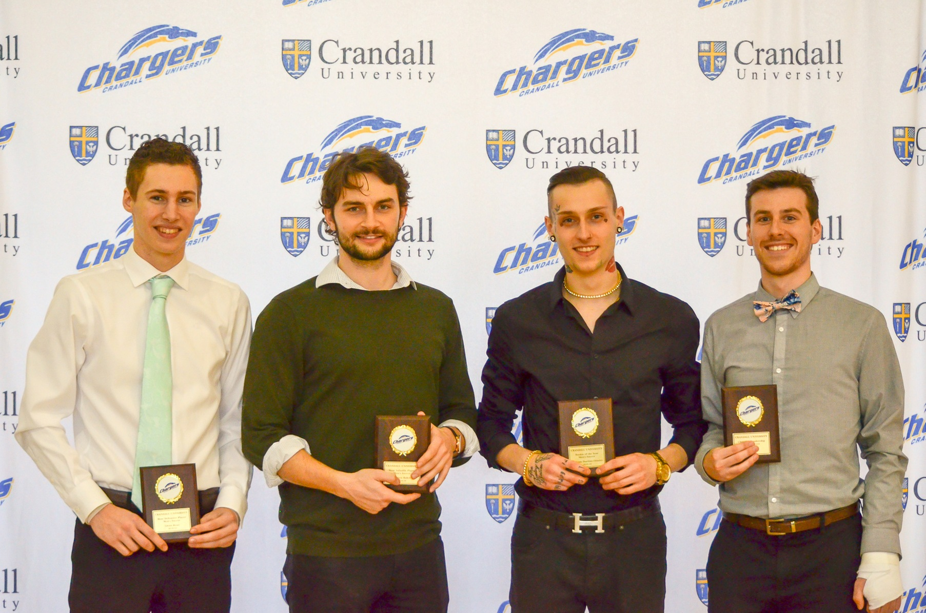Men's soccer award winners