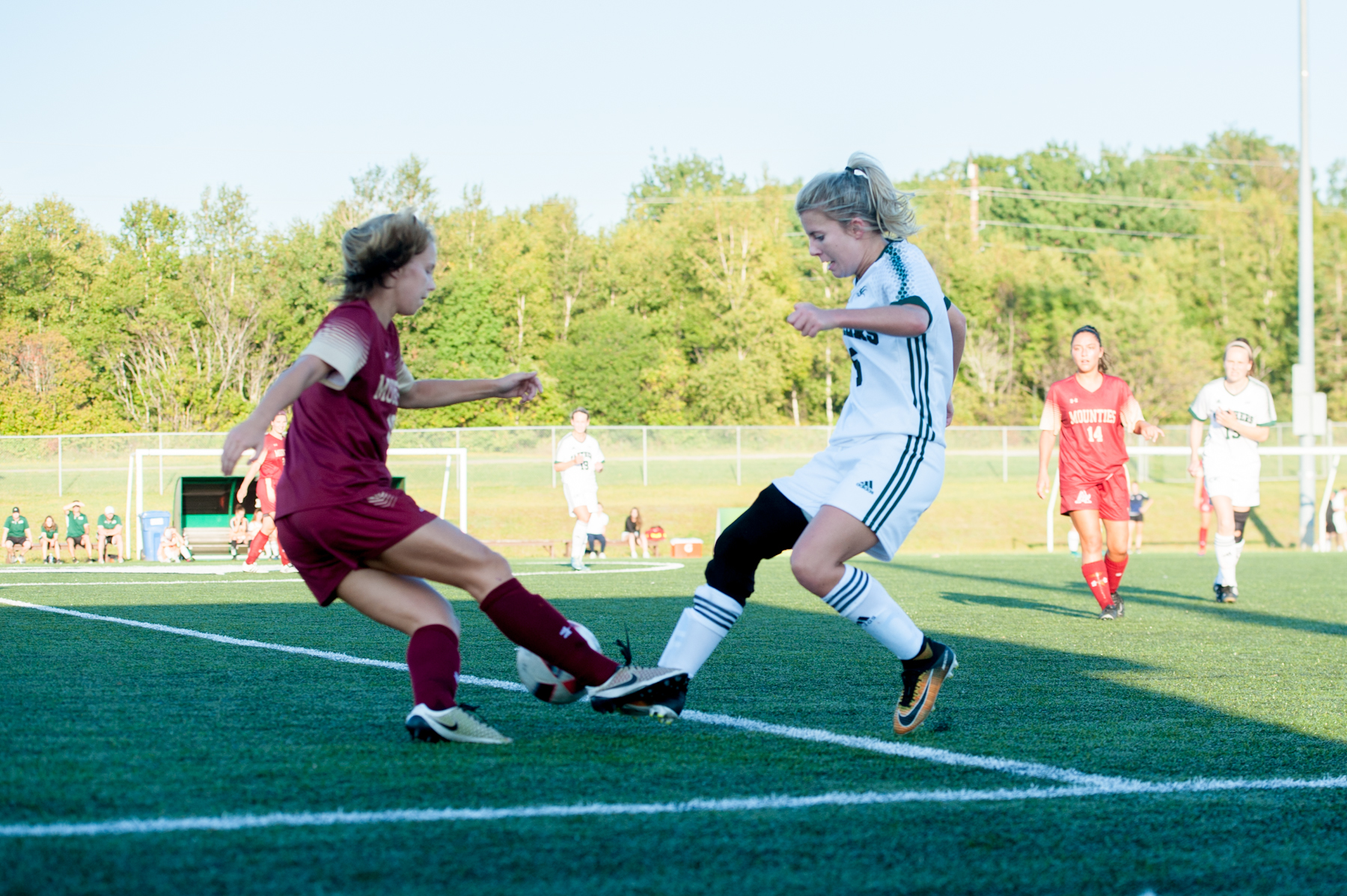 Balderston and Clark come to life in second half as Panthers down Mounties 2-1