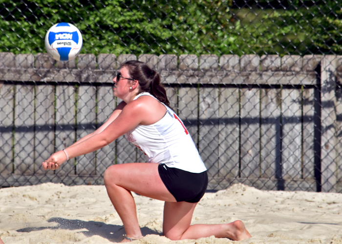 Hawks open play in AVCA Small College Beach Championship