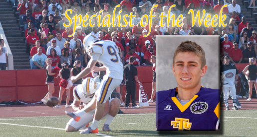 Barker voted Specialist of the Week in the OVC's Player of the Week poll