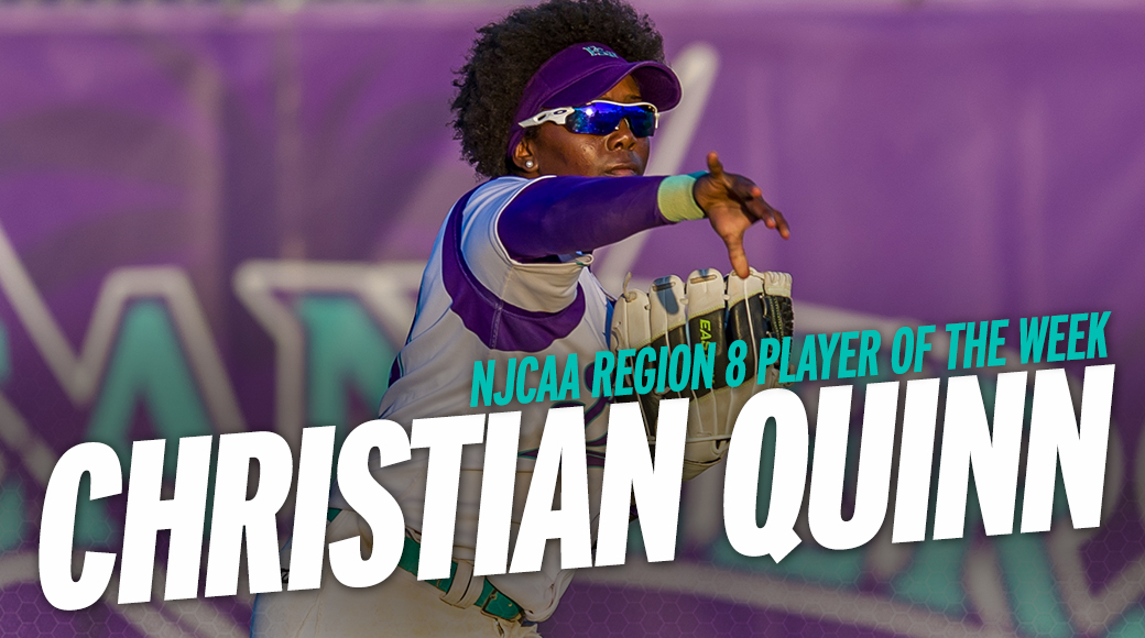 Quinn Earns First Career NJCAA Region 8 Player Of The Week Honor
