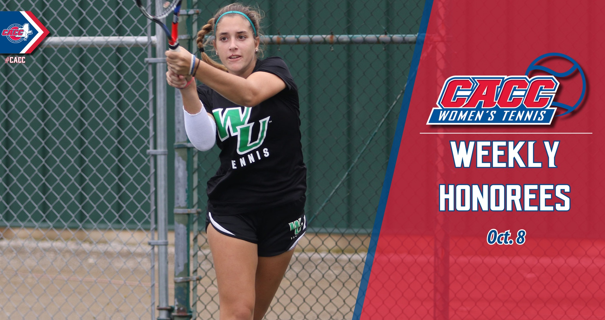 CACC Women's Tennis Weekly Honorees (Oct. 8)