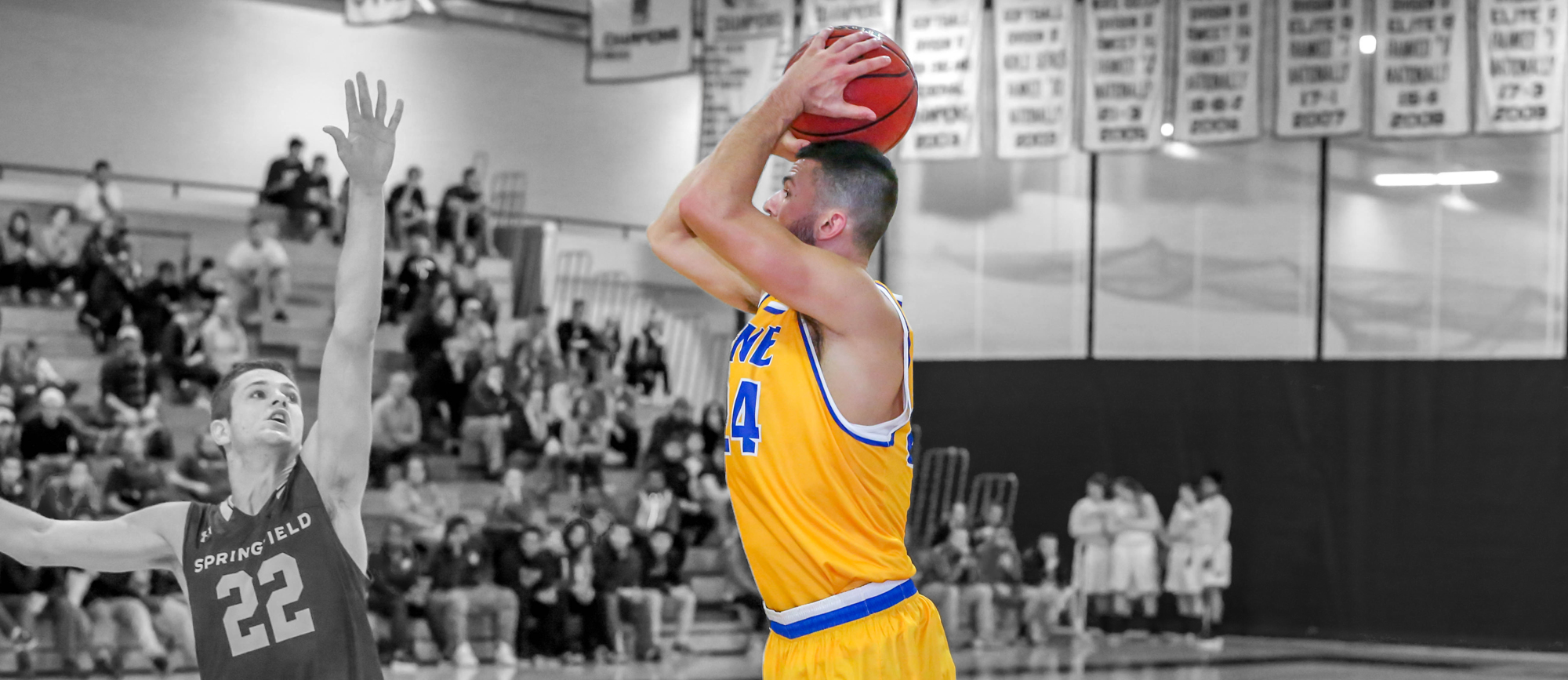 Gelineau Reaches 1000-Point Milestone with Career Performance as Golden Bears Down Elms, 92-67