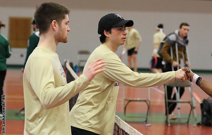 Men's Tennis Falls by 4-3 Count Against Assumption