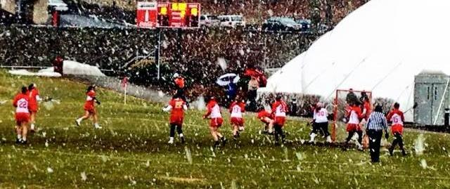 Warriors Battle in the Snow; Edged Out by Chestnut Hill 16-15