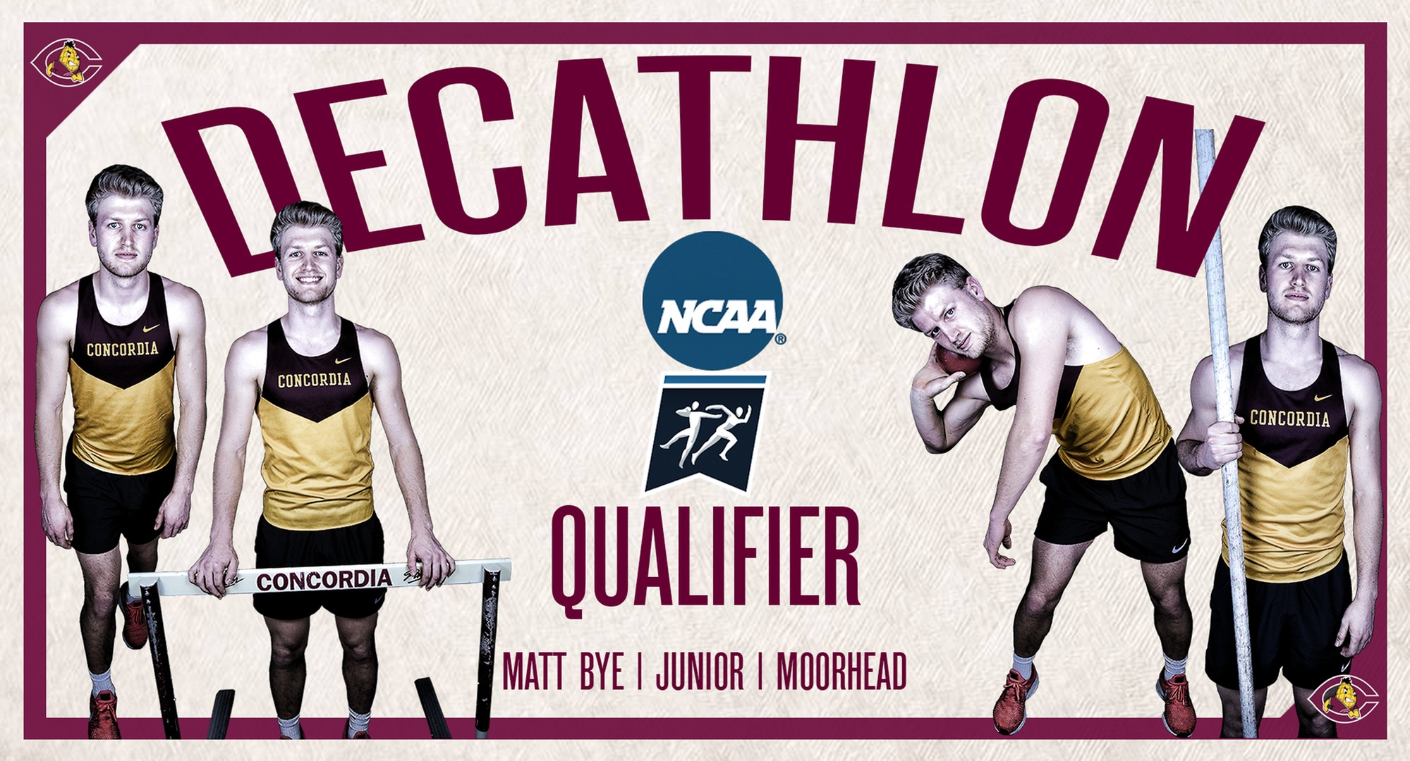 Matt Bye qualified for his second straight NCAA National Outdoor Meet in the decathlon.