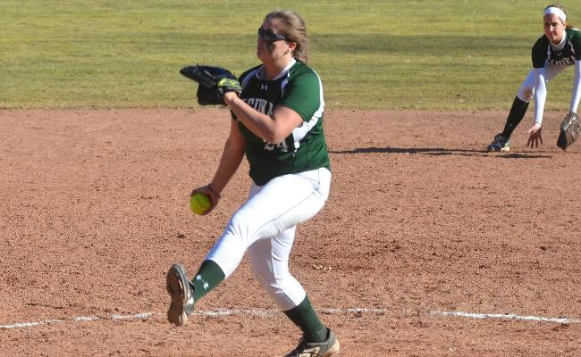 Junior Liz Warren pitched a three-hit shutout with seven strikeouts and no walks in a dominant start as the Keuka College softball team swept Penn College Saturday.