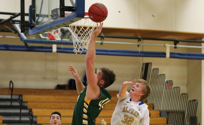Dylan Doupe (44) led Keuka College with 18 points and added 9 rebounds in the win